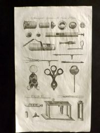 Hall 1791 Antique Print. Microscopical Apparatus